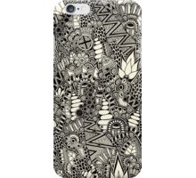 Freehand Black and White Pattern iPhone Case/Skin