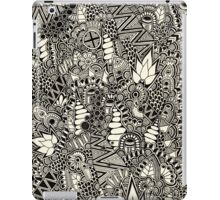 Freehand Black and White Pattern iPad Case/Skin