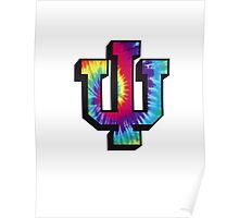 Indiana University Tie Dye Logo Poster