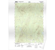 Maine USGS Historical Map Mount Blue 20110902 TM Poster