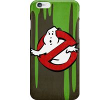 """""""I ain't afraid of no ghost"""" Ghostbusters Stay Puft Mashmallow Man Green Slime Slimer iPhone Case/Skin"""