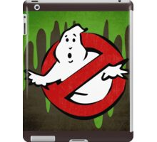 """I ain't afraid of no ghost"" Ghostbusters Stay Puft Mashmallow Man Green Slime Slimer iPad Case/Skin"