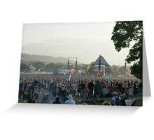 GLASTONBURY FESTIVAL Greeting Card