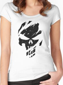 Faded Punisher Women's Fitted Scoop T-Shirt