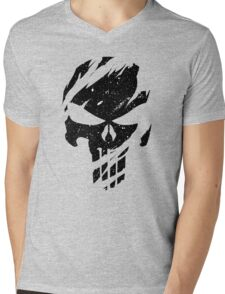 Faded Punisher Mens V-Neck T-Shirt