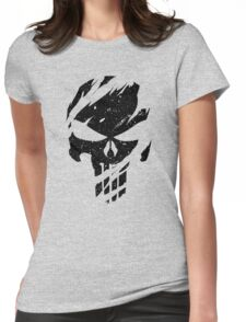 Faded Punisher Womens Fitted T-Shirt