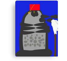 dalek fez and mop Canvas Print