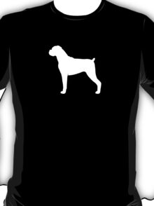 Boxer Dog Silhouette (White) T-Shirt