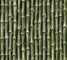 Green Bamboo Nature Pattern by Skye Ryan-Evans
