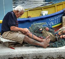 Mending the Nets.  by Anthony Vella