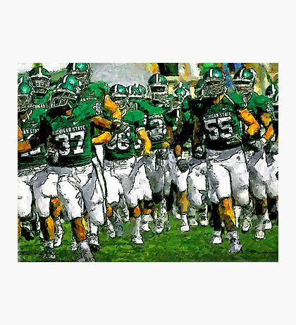 Go Green Sparty Charge The Field Photographic Print