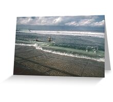 Spring Tide at Newcastle Baths by Bernadette Smith  Greeting Card