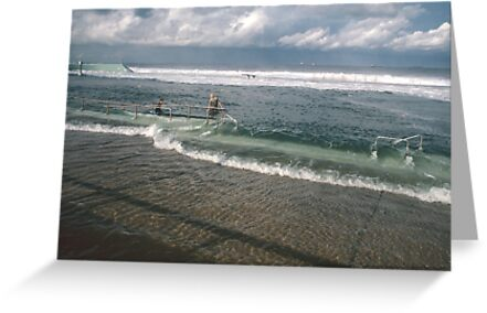 Spring Tide at Newcastle Baths by Bernadette Smith  by smithrankenART