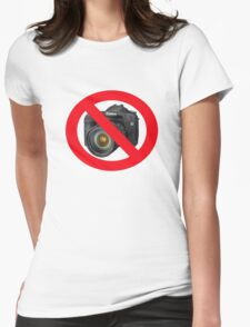 no photographs Womens Fitted T-Shirt