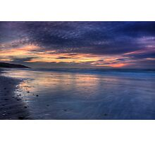 Painted Sky over Inverness Beach Photographic Print