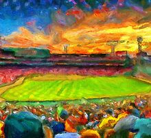 Twilight Fenway Park by John Farr