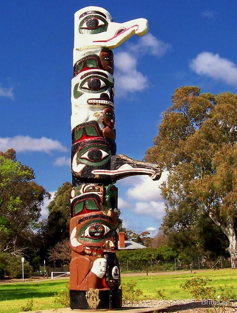 Tsimshian Totem pole by Brita Lee