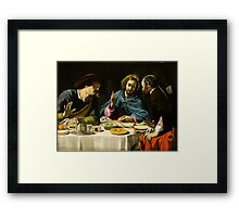 Filippo Tarchiani - The Supper at Emmaus Framed Print