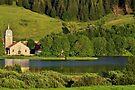 The church near the lake by Patrick Morand