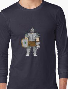 Horned Knight Full Armor Shield Cartoon T-Shirt
