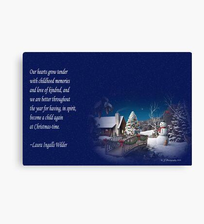 snow scene card Canvas Print