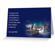 snow scene card Greeting Card