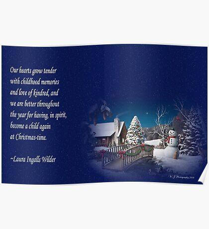 snow scene card Poster