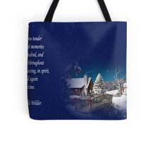 snow scene card Tote Bag
