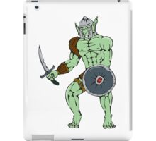 Orc Warrior Sword Shield Cartoon iPad Case/Skin