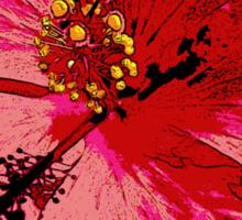 Tropical Pink Hibiscus Flower Sticker