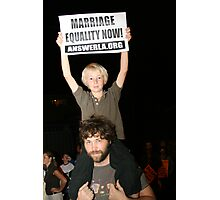Marriage Equality Now Photographic Print