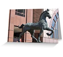 PLAZA HORSE SCUPTURE Greeting Card