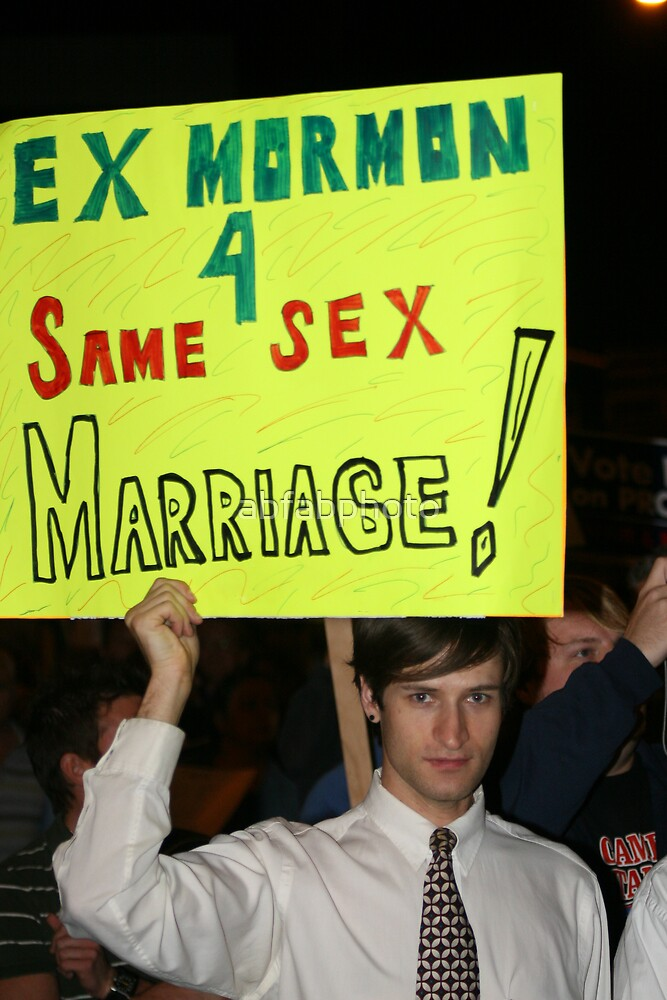Ex-Mormon for Same sex Marriage by abfabphoto