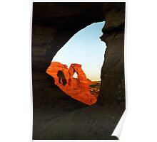Delicate Arch Through a Hole in the Rock Poster
