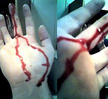 the day I almost sliced my finger off cuz of broken glass by Vimm