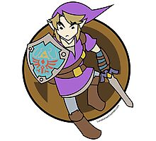 Smash Brother Purple Link Photographic Print