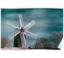 Infra-red Windmill Poster