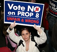"I Say ""No On Prop 8"" by abfabphoto"