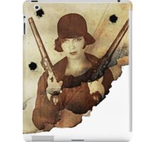 Louise Brooks  and her guns iPad Case/Skin