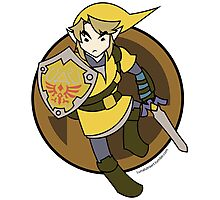 Smash Brothers Yellow Link Photographic Print
