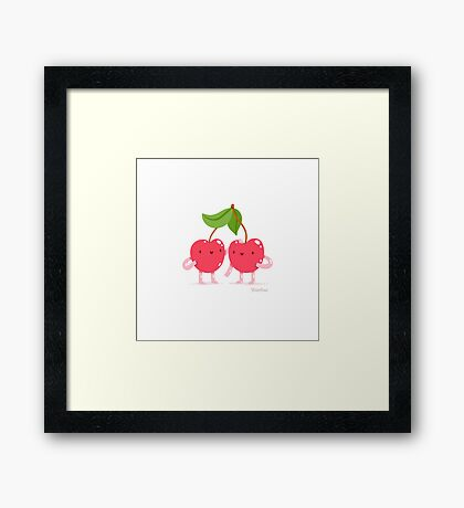 Cherry twins Framed Print