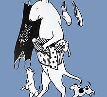 Bull Terrier Laundry by threebrownhares