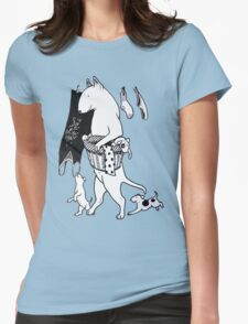 Bull Terrier Laundry Womens Fitted T-Shirt