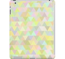 Colorful triangles in olive iPad Case/Skin