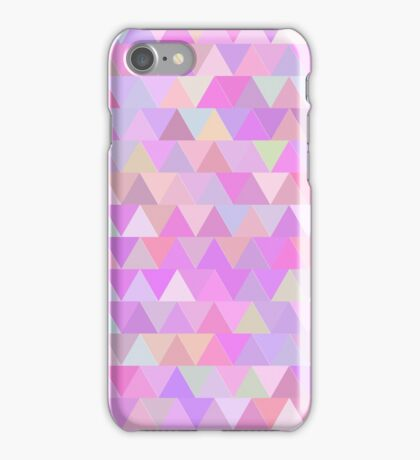 Colorful triangles in pink iPhone Case/Skin