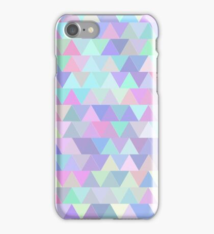 Colorful triangles in blue iPhone Case/Skin