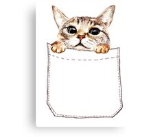 Pocket cat Canvas Print