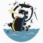 Sea Monster Rage!!! by spadaman