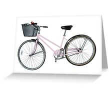Pink Pedal Challenge 2015 - Support Jo and Ginny - bike only Greeting Card