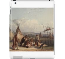 Funeral scaffold of a Sioux chief (Karl Bodmer) iPad Case/Skin